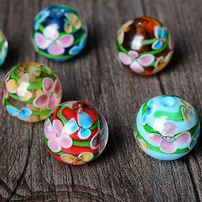 Faceted Plum Blossom Crystal Glass Spacer Loose Charms Bead Jewelry Making Craft