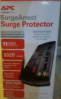 APC 11 Outlet Surge Protector 3020 Joules Phone, Ethernet and Coaxial Protection
