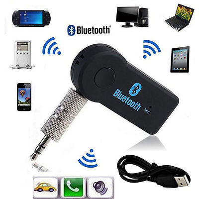 3.5mm Wireless USB Mini Bluetooth Aux Stereo Audio Music Car Adapter Receiver CD