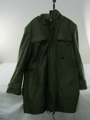 Vintage A.Schwarz Sulzbach German Olive Green Men Military Jacket 1985 Size XL