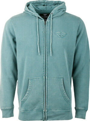 Fly Racing Snow Wash Sage Hoodie