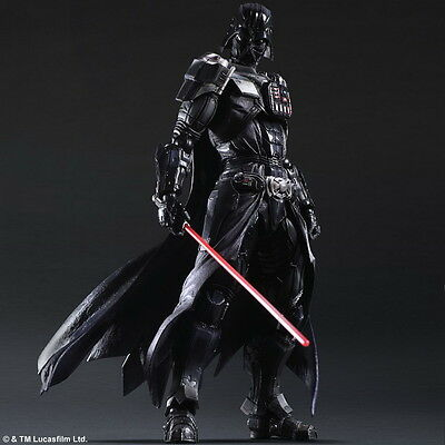 Star Wars Play Arts Kai Black Series Darth Vader Action Figure Toy Doll Model