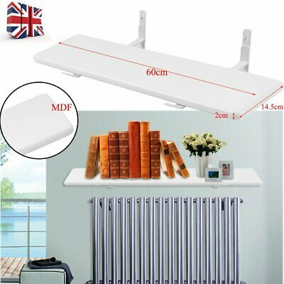 60cm Radiator Shelf No Drilling Required Easy Fit 24 Inch Mahogany Finish White
