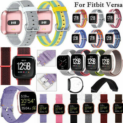 For Fitbit Versa Woven Nylon Sports Fabric Replacement Wrist Watch Band Strap