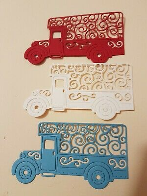 Tattered Lace Delivery Truck Die cut 1 set of 6  for boys cards or Scrapbooking