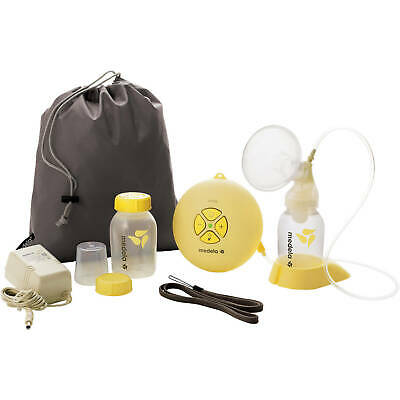 Medela Swing Single Electric Breastpump 67050 With Breast Pump Bag Power Plug