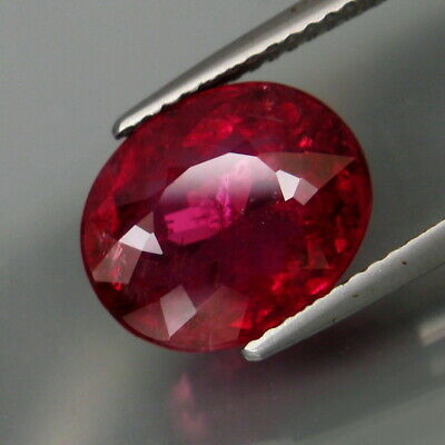 5.34Ct.Best Color! Natural BIG Top Hot Pink Tourmaline (Rubellite) Mozambique