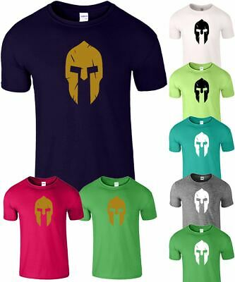 Spartan Mens Gym MMA T Shirt Fitness Training Workout Unisex Bodybuilding Tee