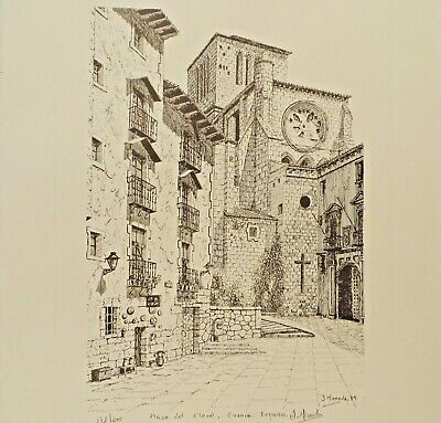 Cuenca Grabado Original Engraving Signed
