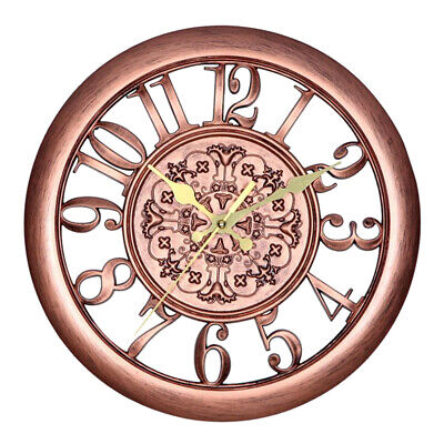 Large Ancient Wall Clock Antique Vintage Metal Rome Round Retro Clocks for Home