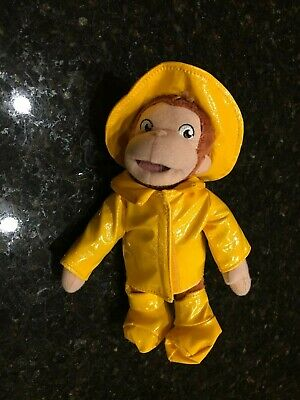 Curious George monkey Plush in a Yellow Raincoat and Yellow Hat