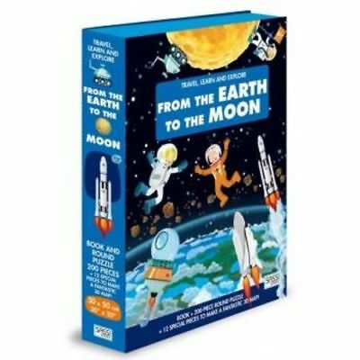 Sassi Travel, Learn and Explore - From the Earth to the Moon Puzzle & Book Set,