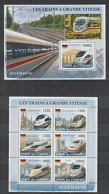 T611. Comores - MNH - 2008 - Transport - Trains - Germany