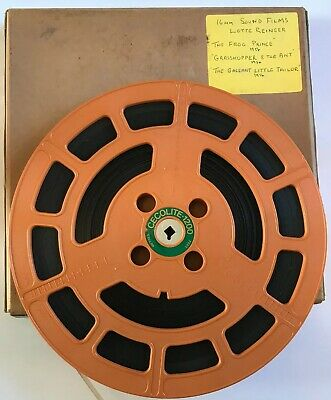 Rare Vintage 16mm Cine Film, 3 x Lotte Reiniger Silhouette Animated Movies 1954