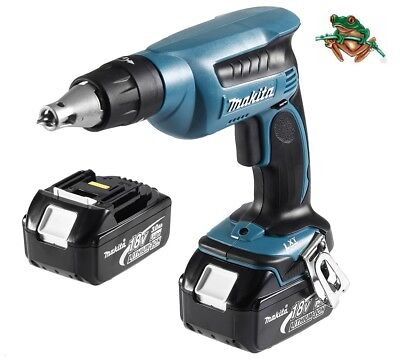 Makita Dfs451Z 18V Drywall Screwdriver & Bl1830 X 2 3Amp Batteries