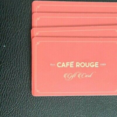 Cafe Rouge £80 Gift Card / Voucher
