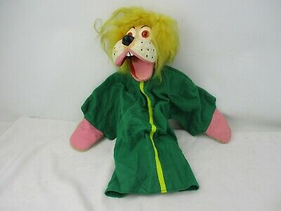 Vintage Lenny the Lion Stick Puppet with Moveable Mouth Ventriloquist