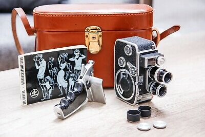 Vintage Paillard Bolex B8L 8mm Movie Camera & Leather Case+Yashica TL Electro