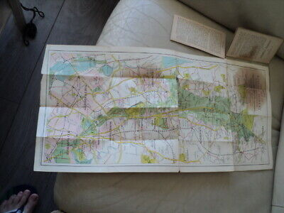 Bacons Vintage Map Of Epping Forest 4 1/2 d