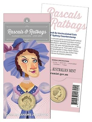 2018 $1 One Dollar 'S' Rascals and Ratbags Uncirculated Coin