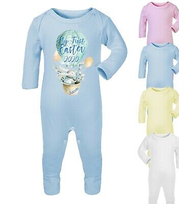 Personalised My First Easter 2019 Baby Grow Romper Baby Gifts Bunny Cute Boy