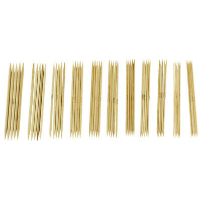1X(11 Sizes 5'' (12.7cm Double Point Bamboo Kits Knitting Needles 5 Sets ( A1Q7)