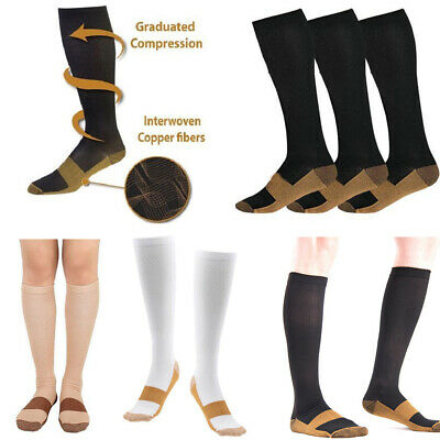 Copper Infused Compression Socks 20-30mmHg Graduated Men's Women's S-XXL Welcome