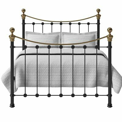 Selkirk Iron Brass Bed with High Grade Wooden Slats by The Original Bed Co.