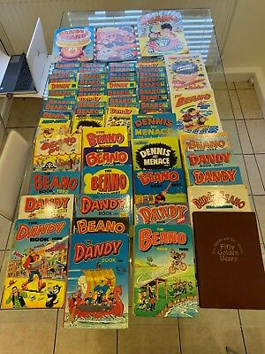 Beano and Dandy comics, comic library, annuals, posters and sticker books.
