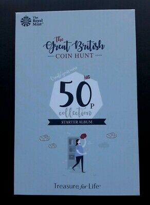 Royal Mint The Great British Coin Hunt 50p Starter Collector Album Folder - NEW