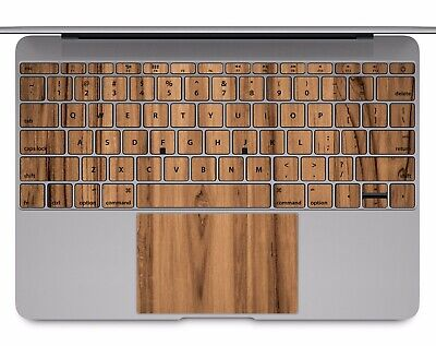 Macbook Pro Air 13 15 keyboard Stickers cover Decal Skins Wood pattern KB023