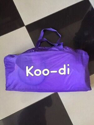 Koodi Pop Up Travel Cot With Inflatable & Soft Mattress Purple