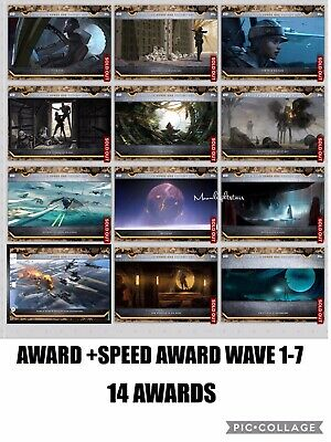 Topps Star Wars Card Trader - Rogue One Concept Art Awards+Speed Awards Wave1-6