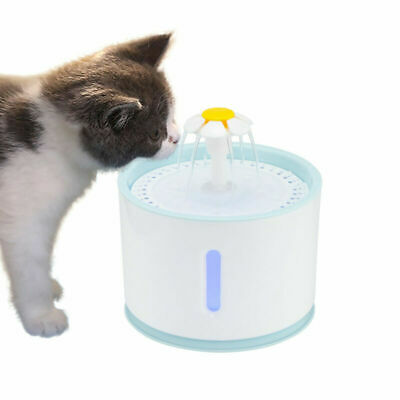 Pet Car Dog Water Fountain 2.4L Automatic Activated Carbon Filter Clear Drinking