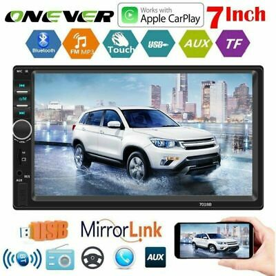"7"" Double 2Din HD Car FM/MP5 Player Apple Carplay Bluetooth Stereo Radio USB/AUX"