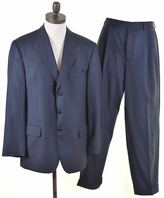 AUSTIN REED Mens 2 Piece Suit Size 40 Large W34 L30 Blue  DH10