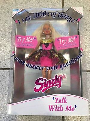 RARE Hasbro TALK WITH ME talking Sindy Doll English Mint In Sealed Box 1993