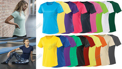 LADIES GIRLIE COOL T SHIRT BY AWDis FOR SPORTS, RUNNING, WORKOUTS. BREATHABLE T