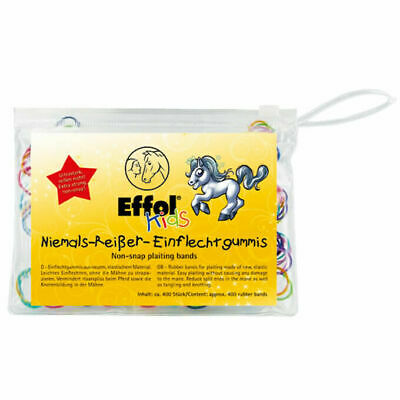 Effol Kids Non-Snap Plaiting Bands - 400 Pack - Showing