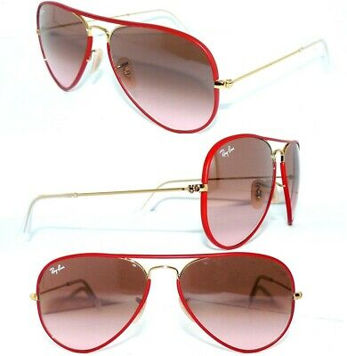 cbcdafa13d Ray Ban RB 3025JM SONNENBRILLE ROT GOLD 001 X3 FULL COLOR PILOT BRILLE 3025  OVP