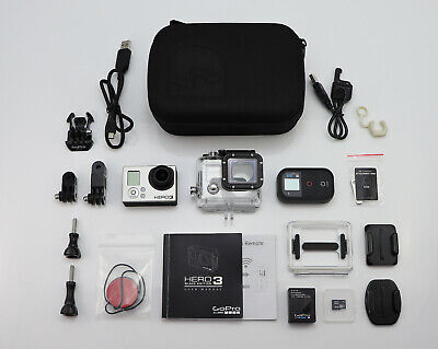 Gopro Hero 3 Black Edition Camcorder Hd 1080P / 4K & Wifi Remote / 32Gb Card