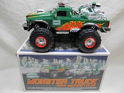 2007 Hess Monster Truck with Motorcycles In Original Box Hess Toy Trucks