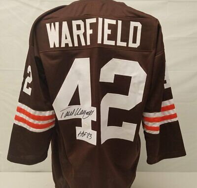 de85e9dd5a8 Paul Warfield Cleveland Browns Autographed Custom Brown Jersey with Hall of  Fame