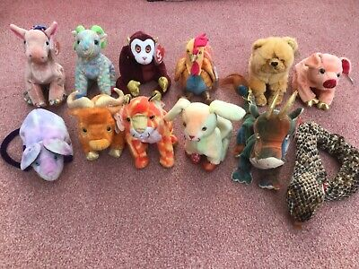 TY Beanie Babies Zodiac Collection Complete Set All 12 Used Good Condition 6b0a1785c6e0