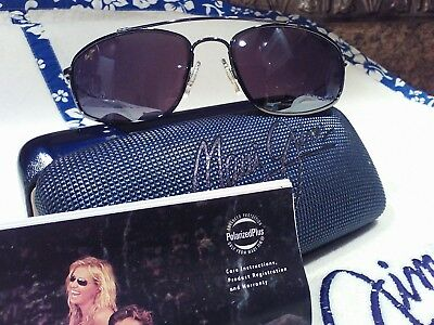 """Maui jim/""""AKONI/""""117-02 BLACK//GRAY,BRAND NEW IN CASE,IMPOSSIBLE FIND,STUNNING!"""