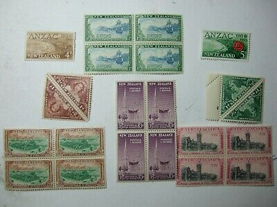 Assorted New Zealand mounted mint