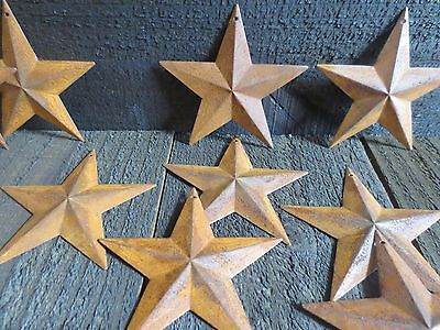 """Lot of 25 Rusty 2D Metal Barn Stars 3.5 in 3 3/4"""" Primitive Country Rustic 3.75"""""""