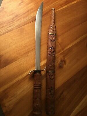 Old Thai Sword - Hand Carved - Ornate - Traditional