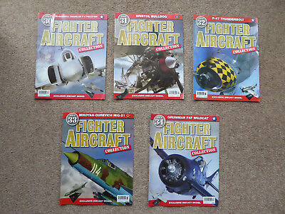 5x AVIATION MAGAZINES - FIGHTER AIRCRAFT COLLECTION  #30, 31, 32, 33, 34