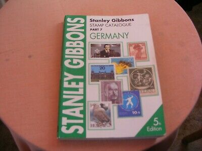 STANLEY GIBBONS STAMP CATALOGUE GERMANY PART 7 5th EDITION 1996 PAPERBACK
